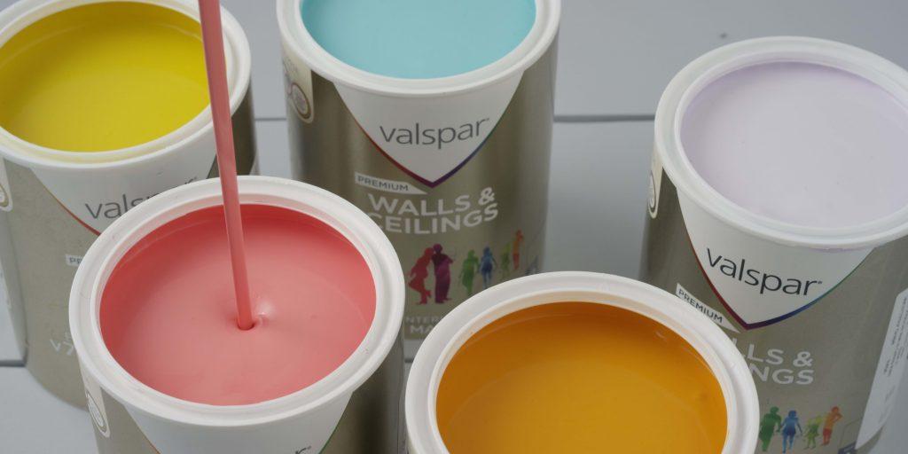 gallons of pastel Valspar paint